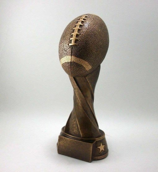 Bronze resin football trophy