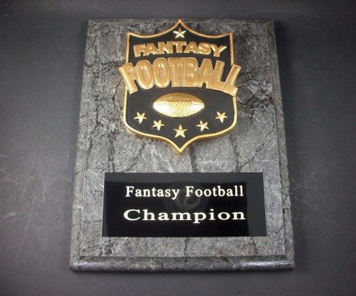 "Fantasy Football 7"" x 9"" Plaque Trophy. Free Engraving"