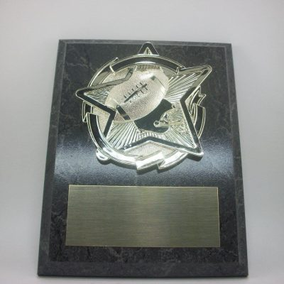 "Football 7"" x 9"" Plaque Trophy. Fantasy Football. Free Engraving."