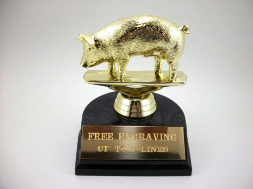 Pig trophy for BBQ or Cookout