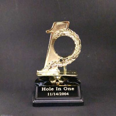 Golf Hole In One Trophy Golf Ball Holder