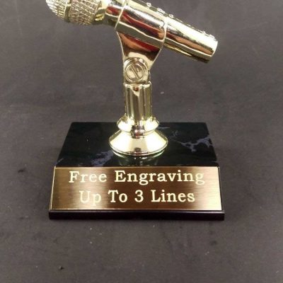Microphone Trophy Music Karaoke Award
