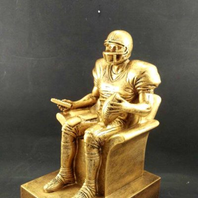 Large Fantasy Football Armchair Quarterback Trophy