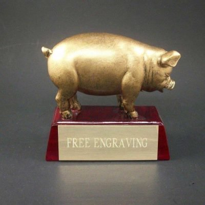 PIG TROPHY FOR BBQ, COOKOUT, COOK-OFF