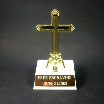 Religious Cross Bible Award Trophy