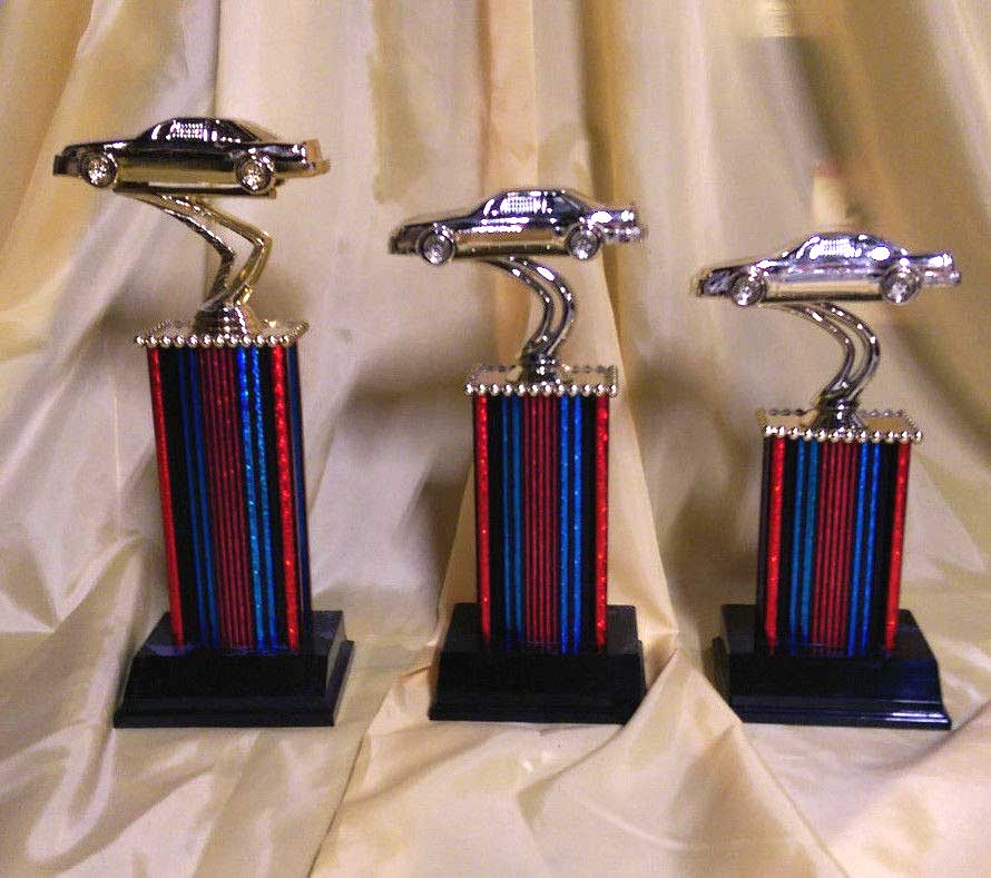 St Nd And Rd Place Car Show Trophies With Free Engraving - Piston car show trophies