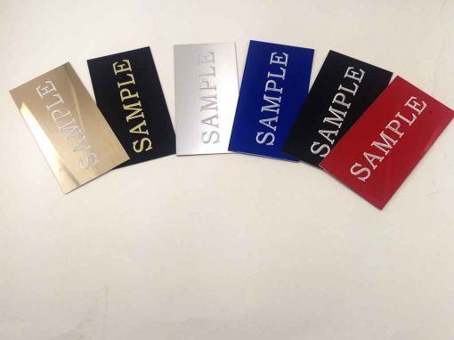 Custom 4 X 2 Name tags