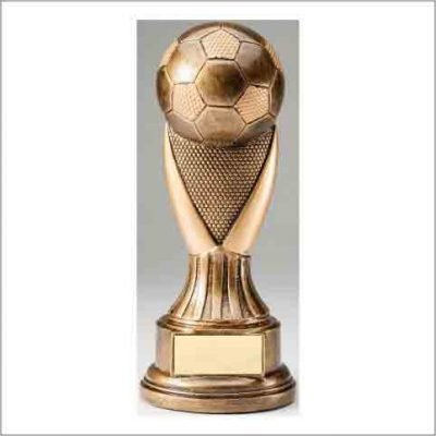 9 inch tall soccer trophy